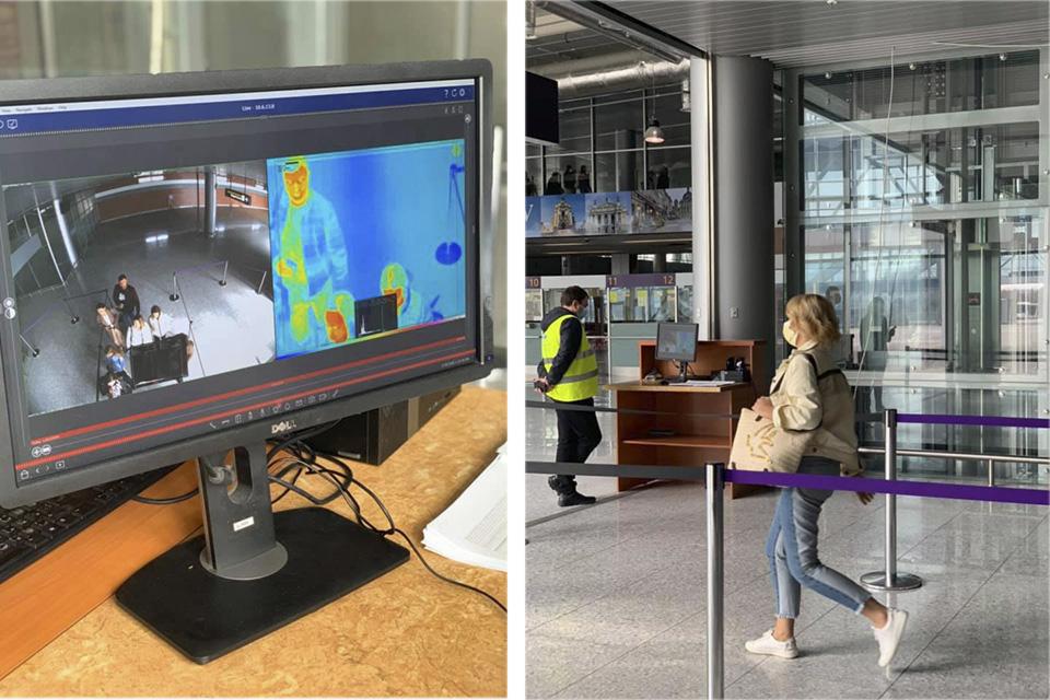 В аэропорту Львов начали измерять температуру с помощью тепловизоров