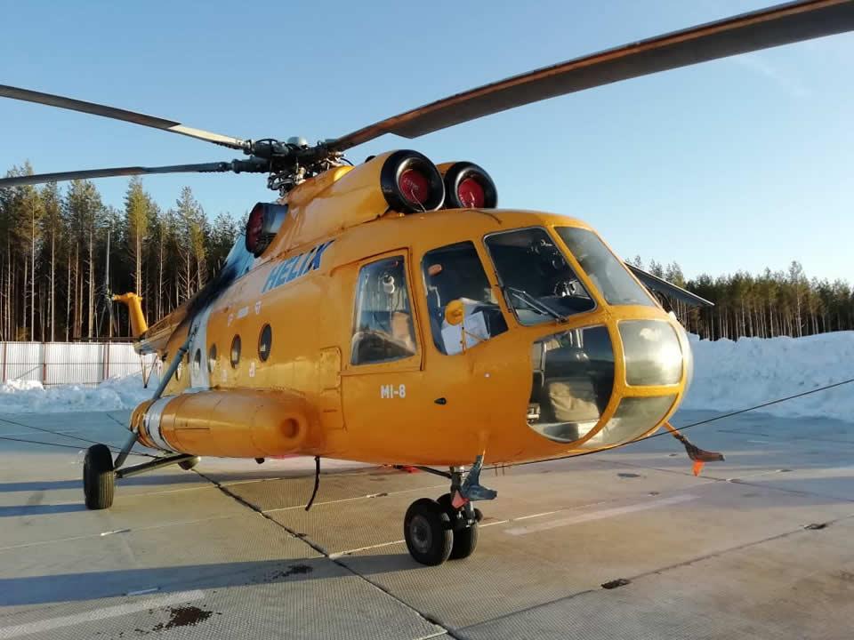 В России обстреляли вертолет с топливом