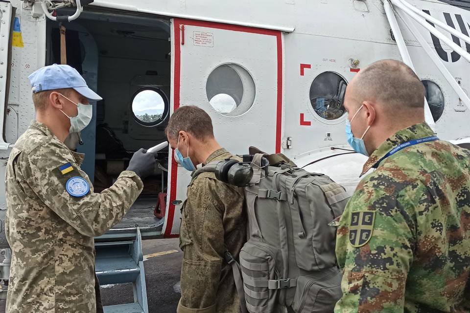Украинские вертолетчики в Конго продолжают выполнять задания