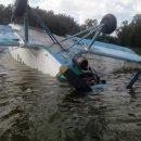 Ан-2 оказался в пруду из-за некачественного бензина