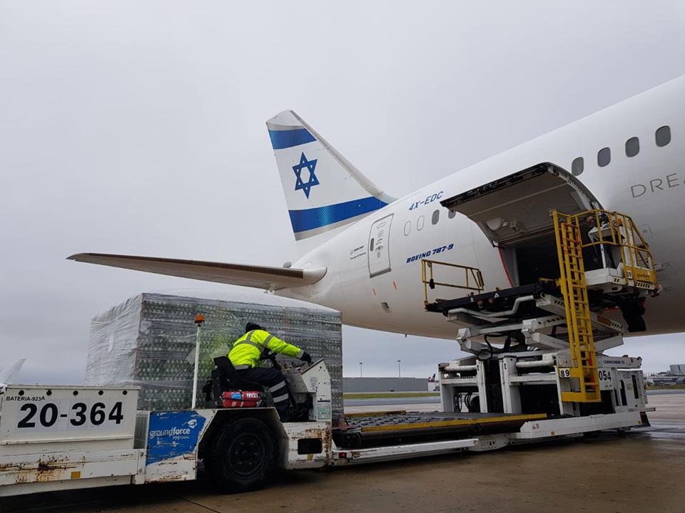 Спецрейс авиакомпании El Al доставит в Израиль 45 тонн яиц из Украины