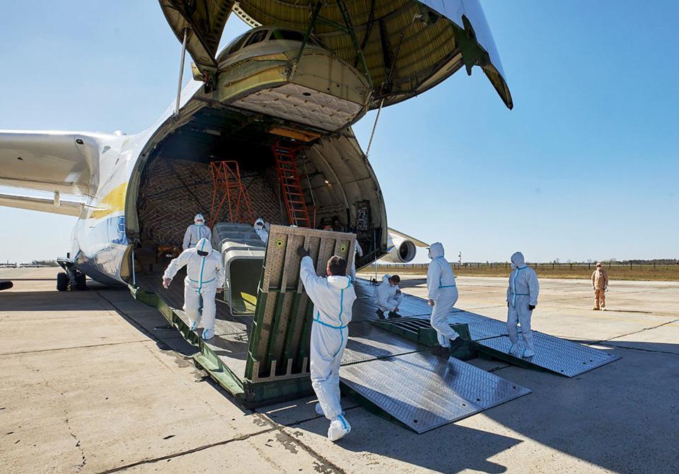 Военно-транспортная авиации Воздушных Сил продолжает авиаперевозки медицинских средств из Китая для Украины и западных партнеров