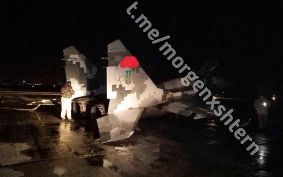 В Мелитополе совершил аварийную посадку МиГ-29