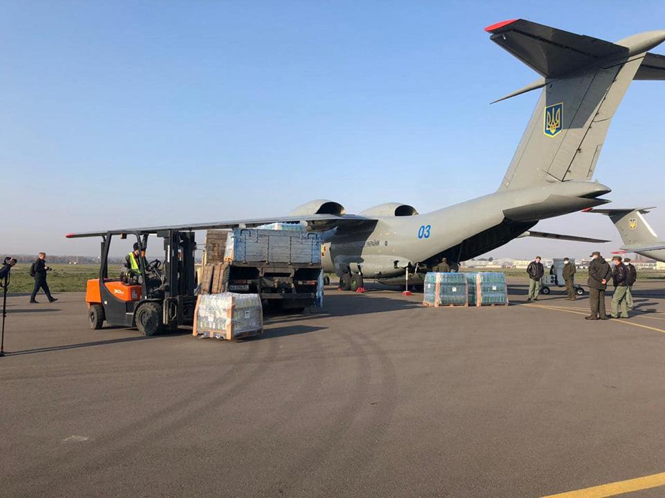 Самолет Нацгвардии отправили в Италию