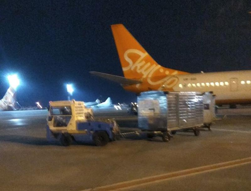 Авиакомпания  SkyUp доставила в Украину медоборудование из Швейцарии