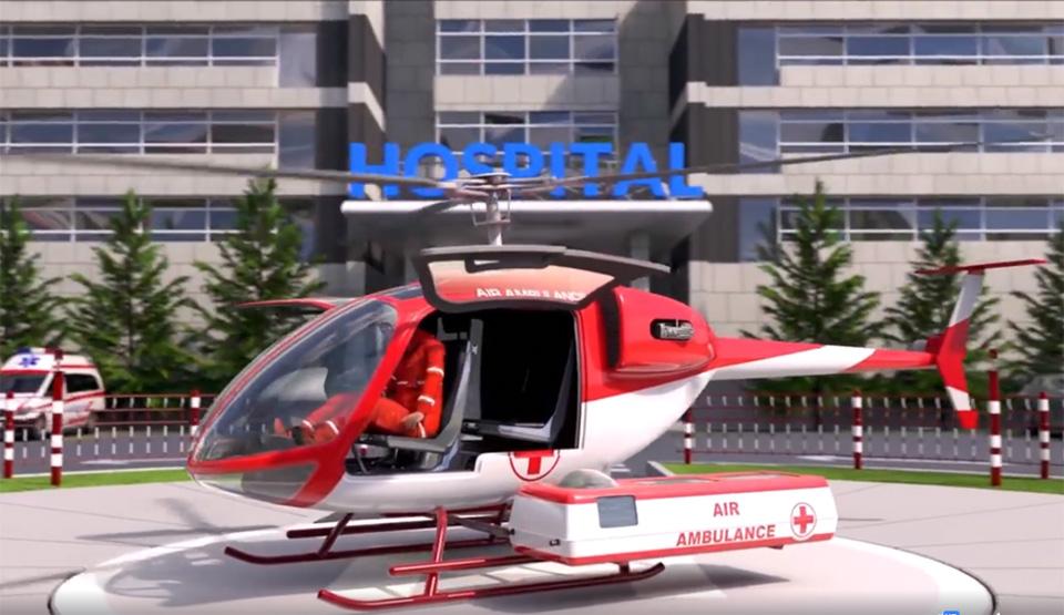 Санитарная модификация вертолета ВМ-4С
