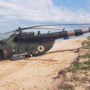 Аварийная посадка Ми-8 на учениях