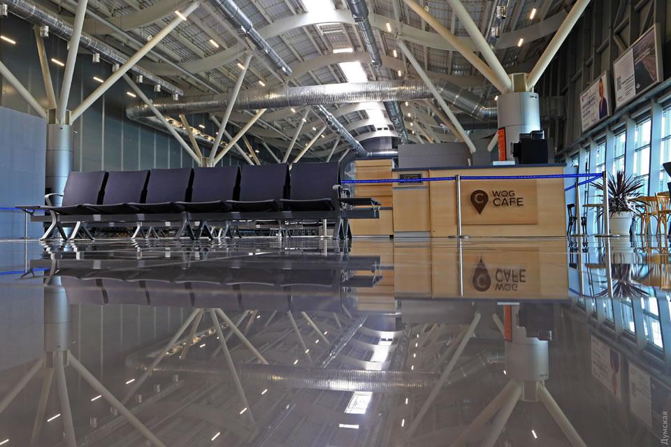 В новом терминале аэропорта Одесса закончены работы в зоне вылета