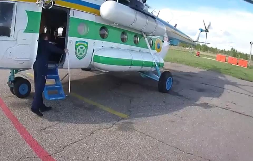 Харьковская отдельная авиационная эскадрилья ГПСУ проводит мониторинг границы