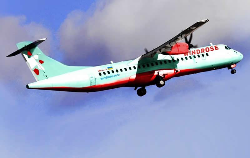 Windrose планирует получить первые два самолета ATR-72 в июне