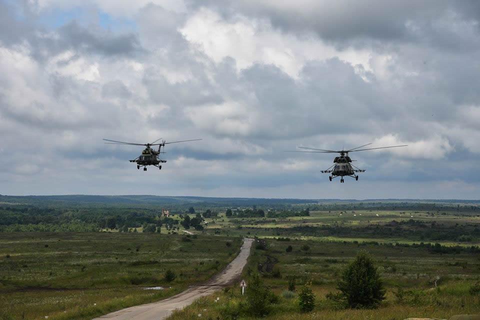 Армейская авиация приняла участие в учениях  в Международном Центре миротворчества