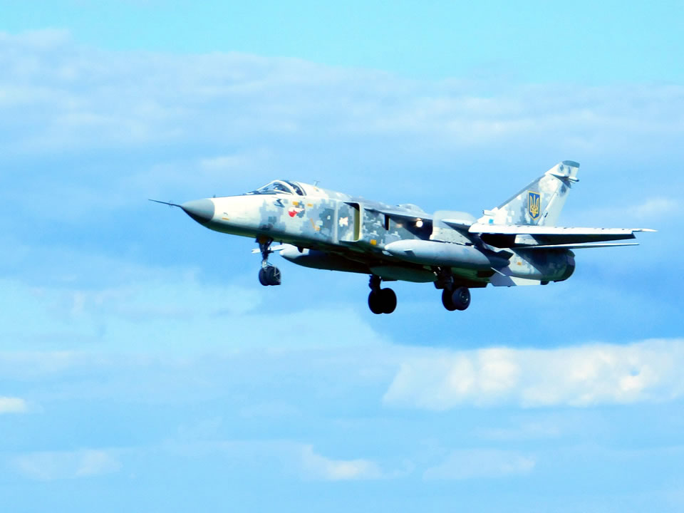 Над Староконстантиновом в воздухе были Л-39 и Су-24