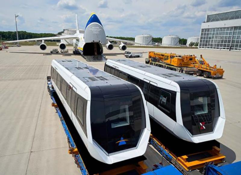 Авиакомпания «Авиалинии Антонова» перевезла два поезда из Германии в Китай