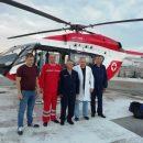 Вертолет ГСЧС Украины транспортировал из Львова в столицу пациента после трансплантации сердца