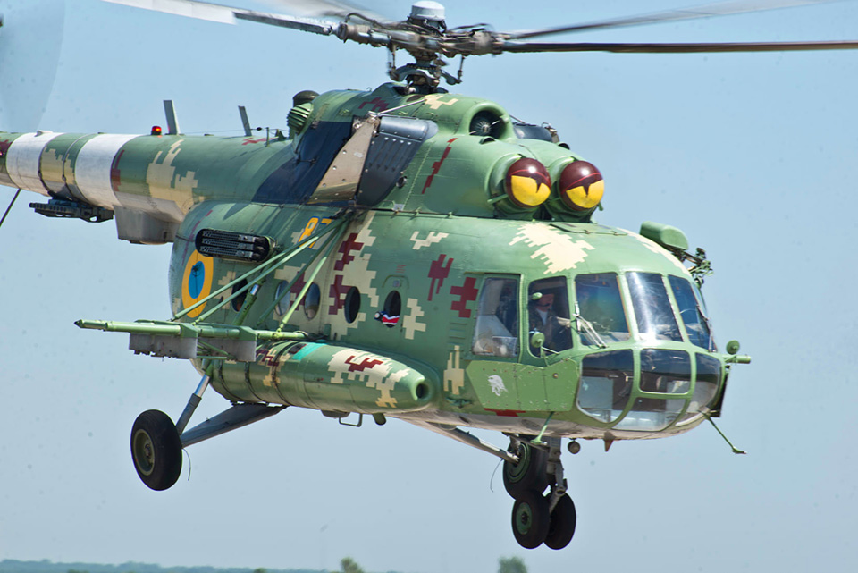 В Чугуеве прошли учения экипажей поисково-спасательных вертолетов