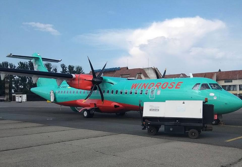 Windrose выполнила первый рейс Киев-Ивано-Франковск-Киев