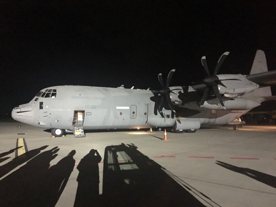 В аэропорт Львов прибыла вторая партия гуманитарной помощи из Италии