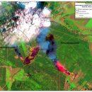 Пожары на Луганщине ликвидировали с помощью спутников