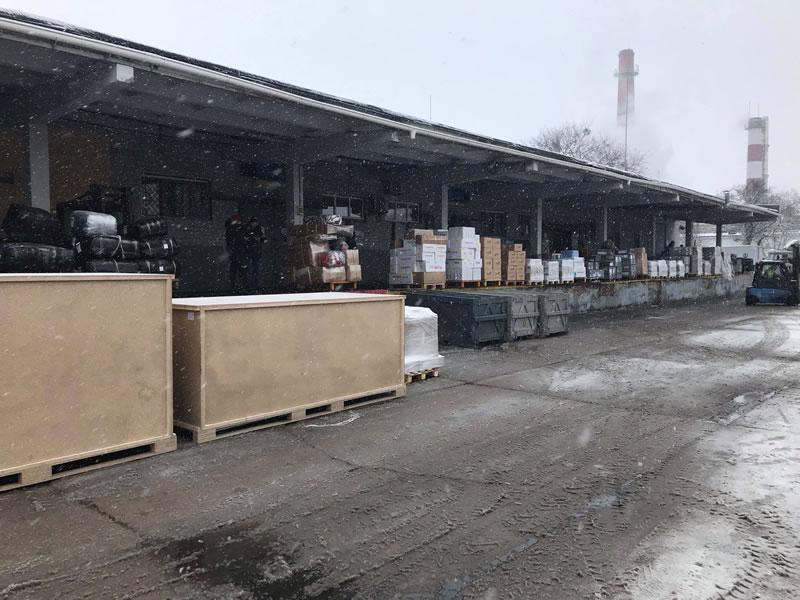 Строительство грузового терминала в