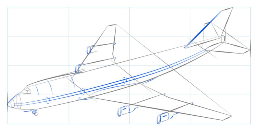 Как нарисовать самолет?