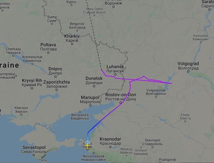 Украэрорух показал, как летел самолет,