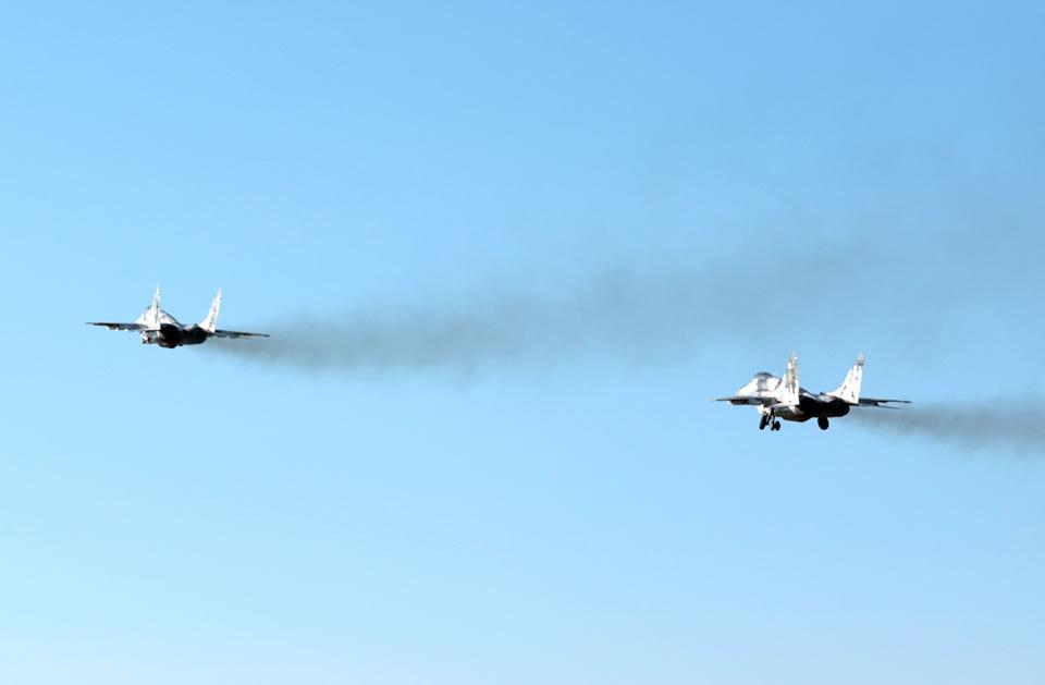 В Воздушных Силах прошли учения по отражению воздушного нападения