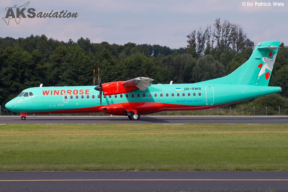 Лизинговая компания передала Windrose третий ATR 72-600