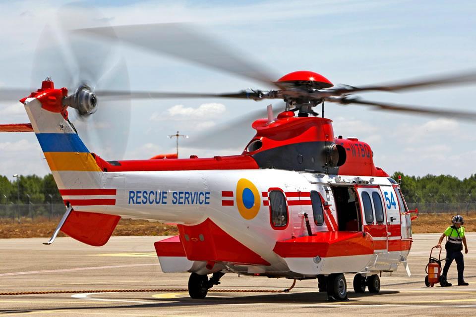 Пятый вертолет H225 для ГСЧС направляется в Украину