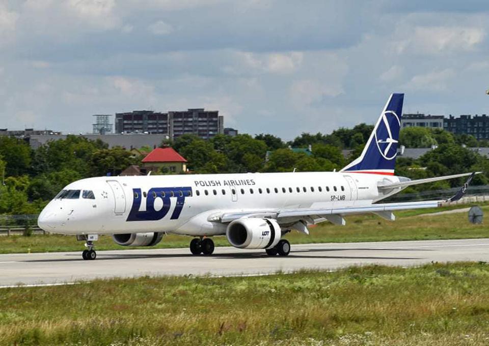 LOT увеличит частоту рейсов на украинских маршрутах