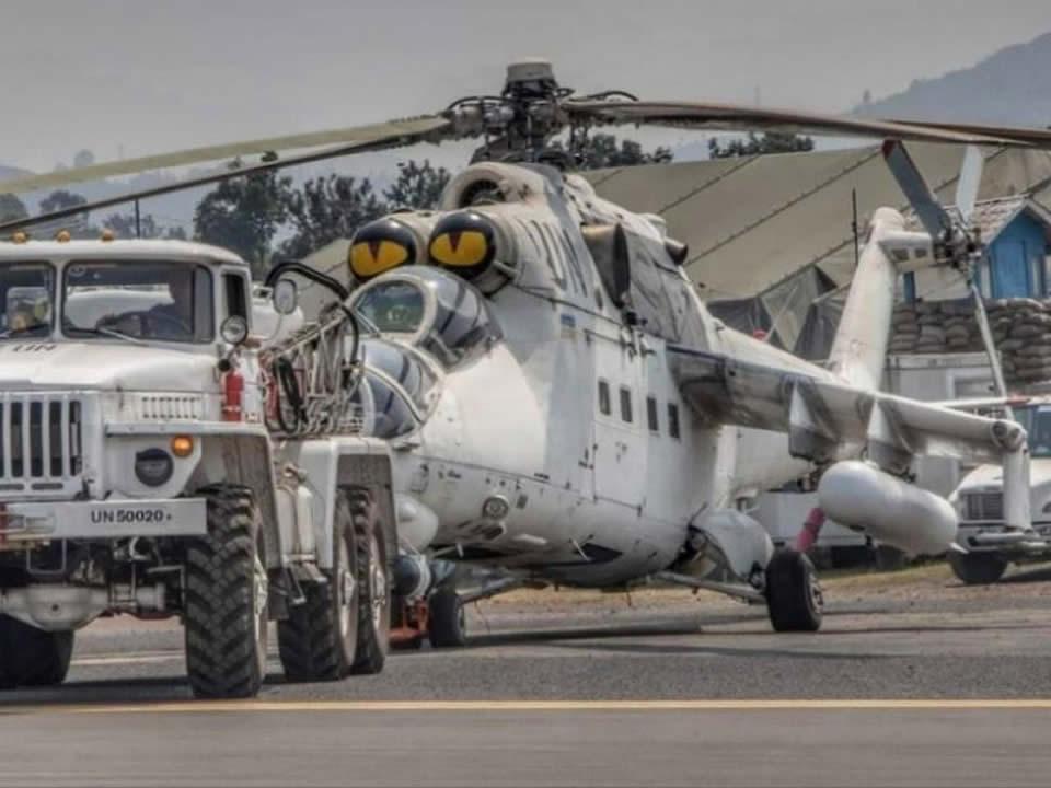 Украинские вертолеты прибыли в Энтеббе