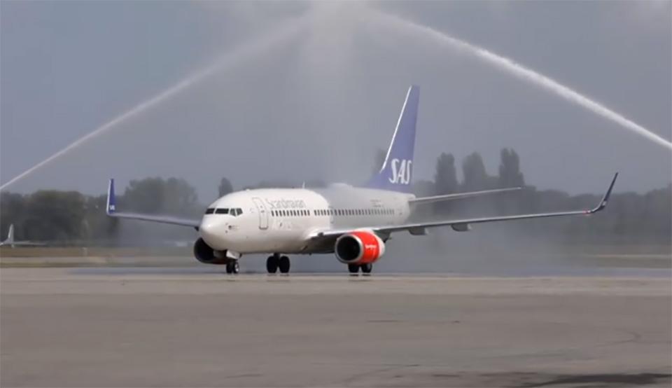 Авиакомпания SAS снова в Киеве