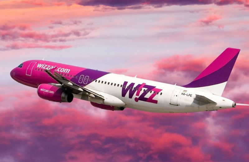 Wizz Air призывает бронировать билеты и услуги на своем сайте