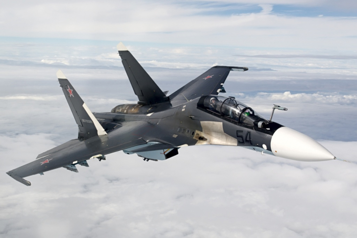 В РФ разбился истребитель Су-30