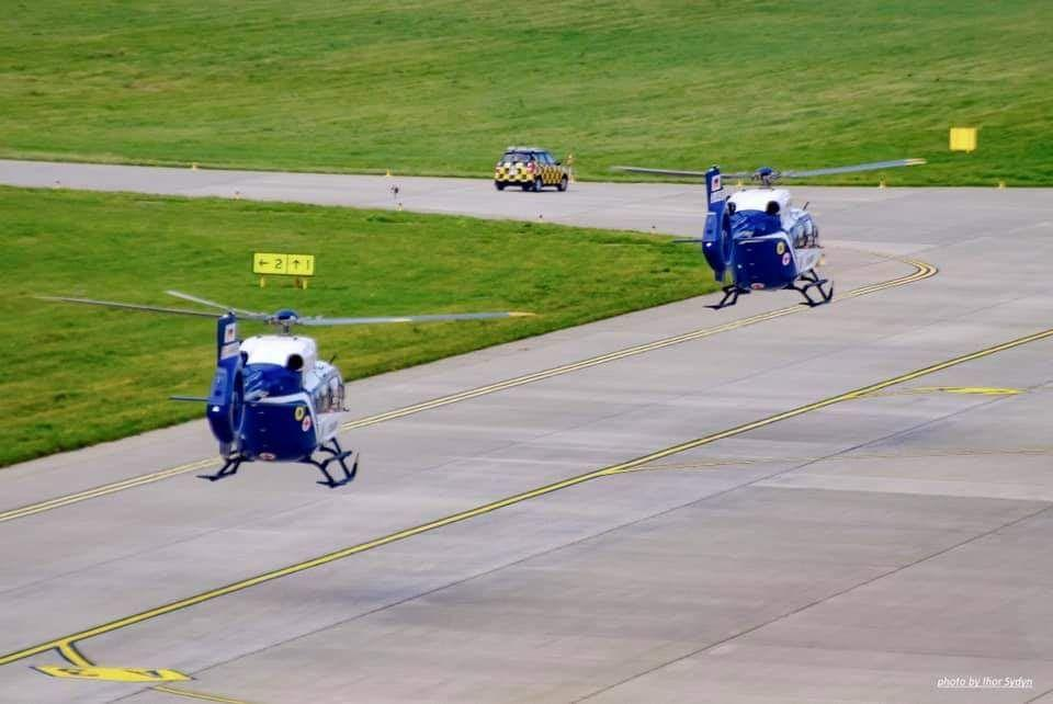 В Украину прибыли первые два вертолета H145 для Нацполиции