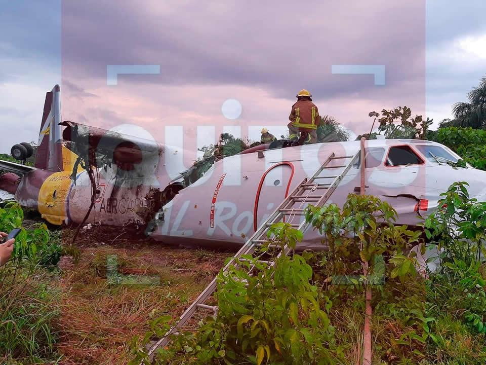 Ан-32 выкатился с полосы и развалился в Перу