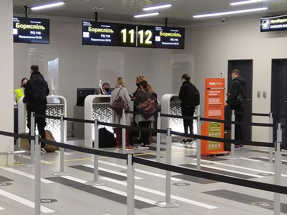 В новом терминале аэропорта Запорожье