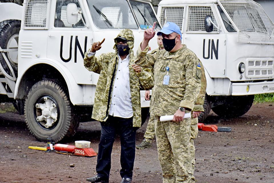 Инспекторы штаба Миссии ООН проверили матобеспечение 18 ОВО