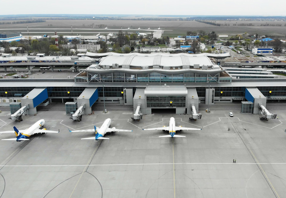 Пассажиропоток украинских аэропортов сократился на 63 %