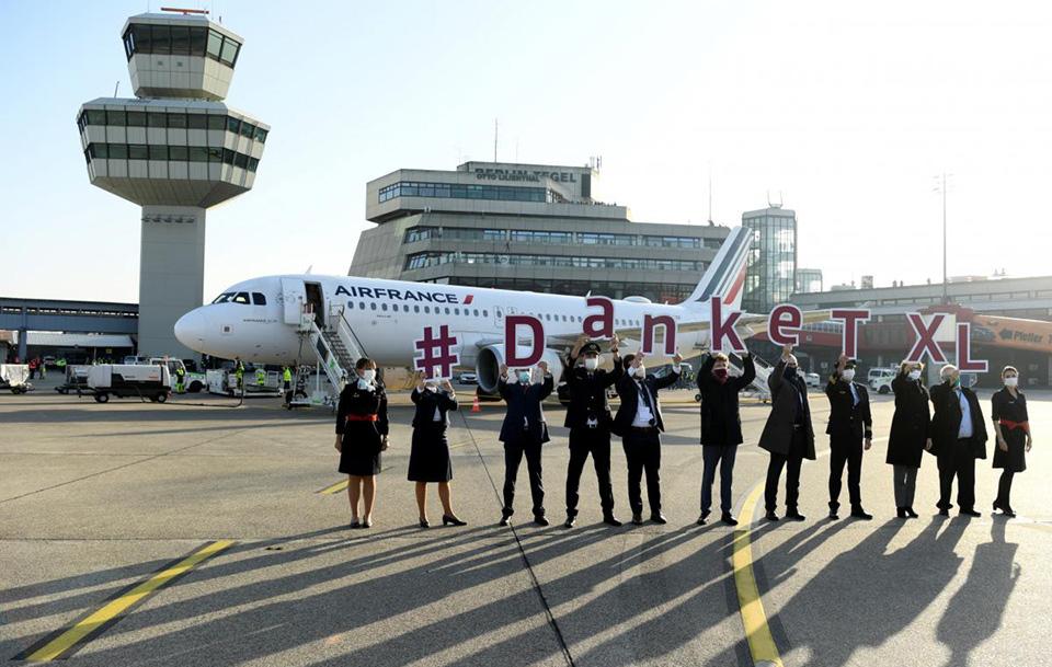 Из аэропорта Берлин-Тегель вылетел последний пассажирский рейс