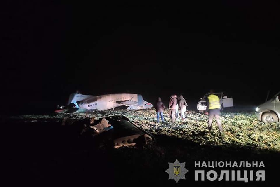 Самолет упал на Тернопольщине