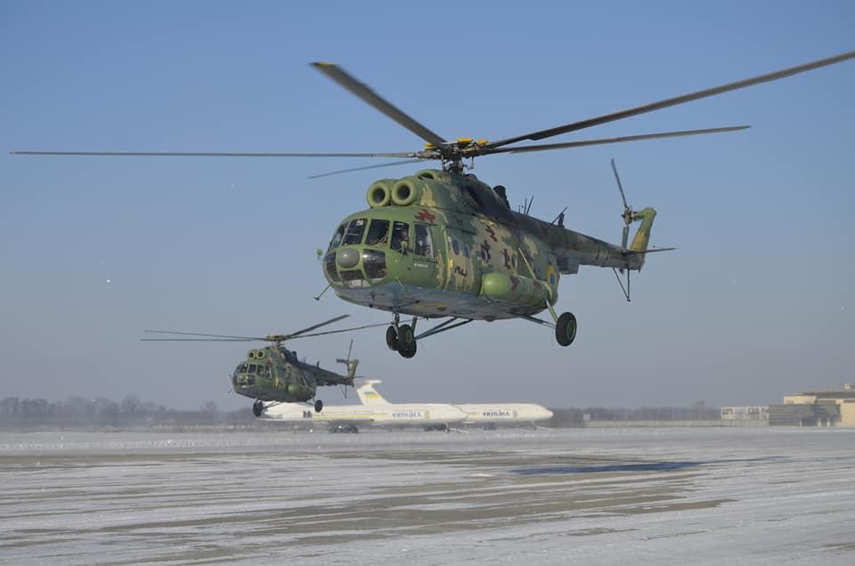 Молодые пилоты Ан-26 и Ми-8 отрабатывали мастерство в Борисполе