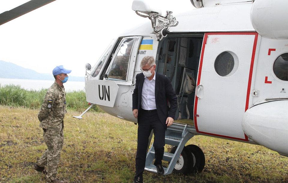Вертолетчики украинского нацконтингента в Конго обеспечили перелет заместителя Генсека ООН