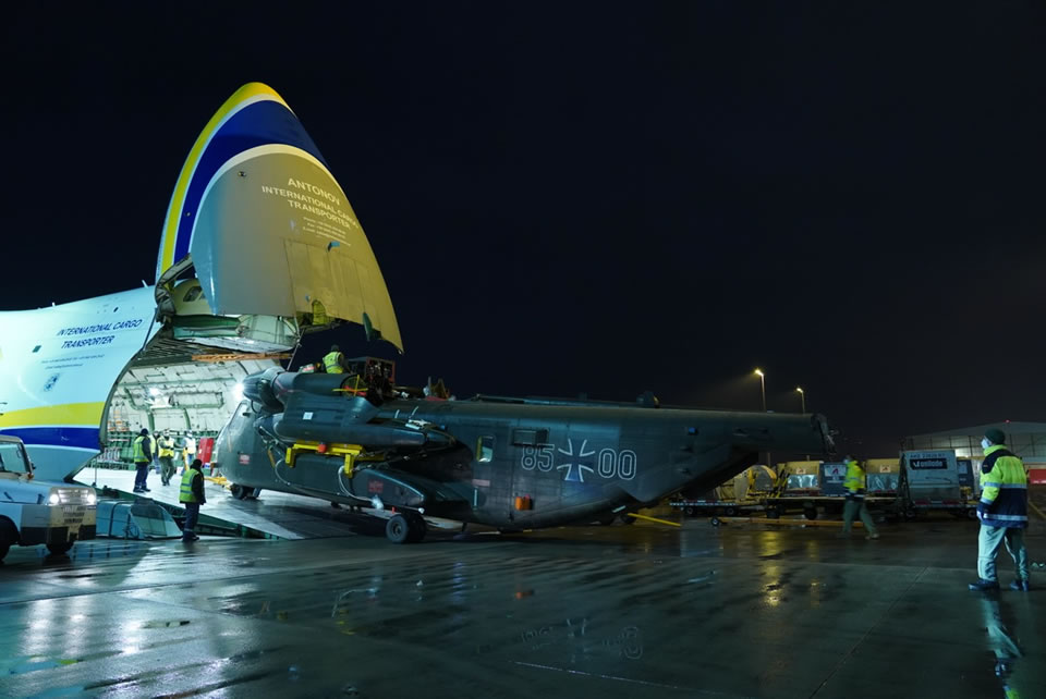 Ан-124 доставил из Афганистана последний германский CH-53G