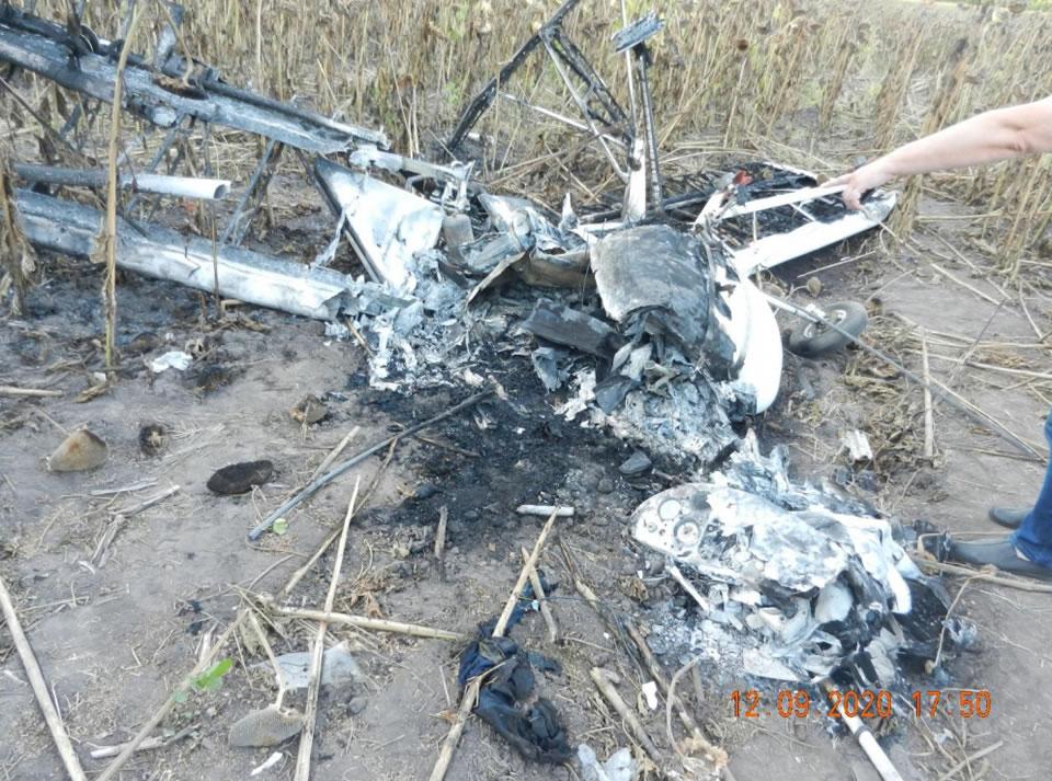 Пилот разбившегося