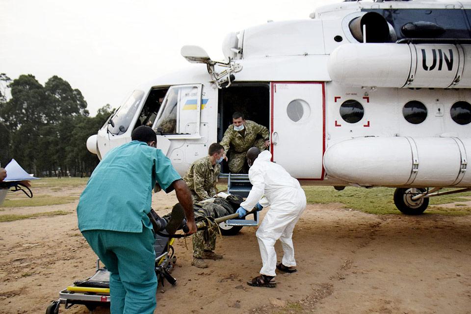 Украинские пилоты и военные врачи Миссии ООН спасли жизнь марокканского миротворца