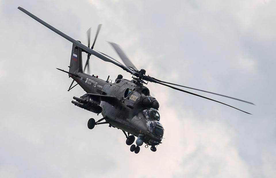 Российский вертолет упал в Сирии