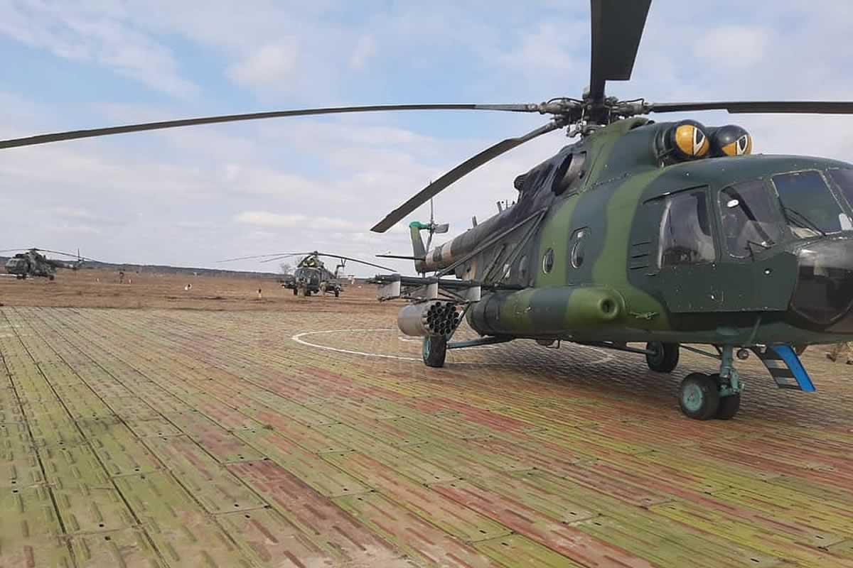 Бригада армейской авиации выполнила боевые стрельбы