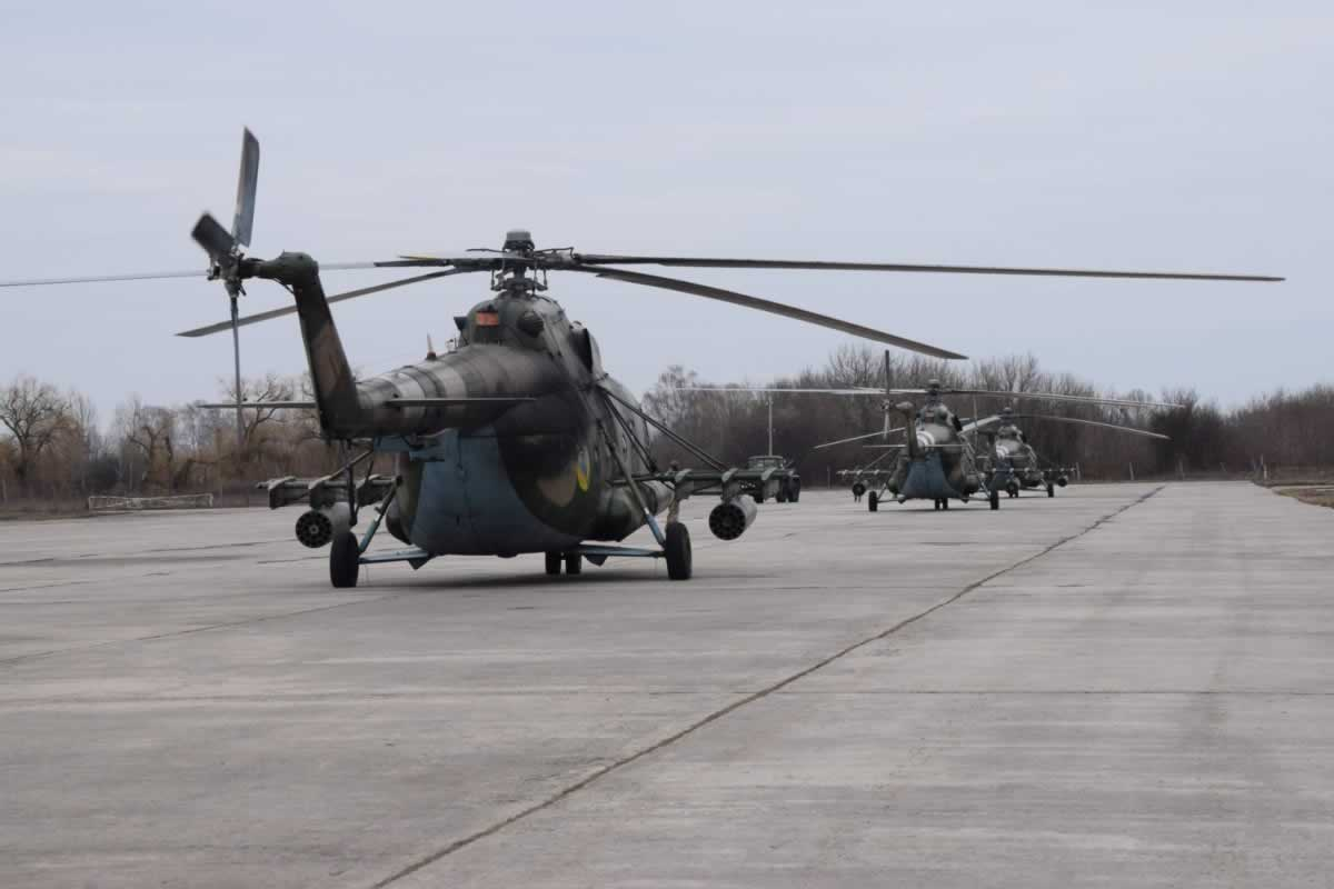 Полтавские вертолетчики вернулись из ротации в район проведения ООС