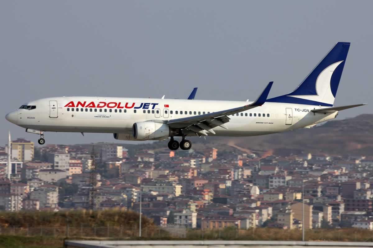 AnadoluJet будет летать из Киева и Одессы в Даламан