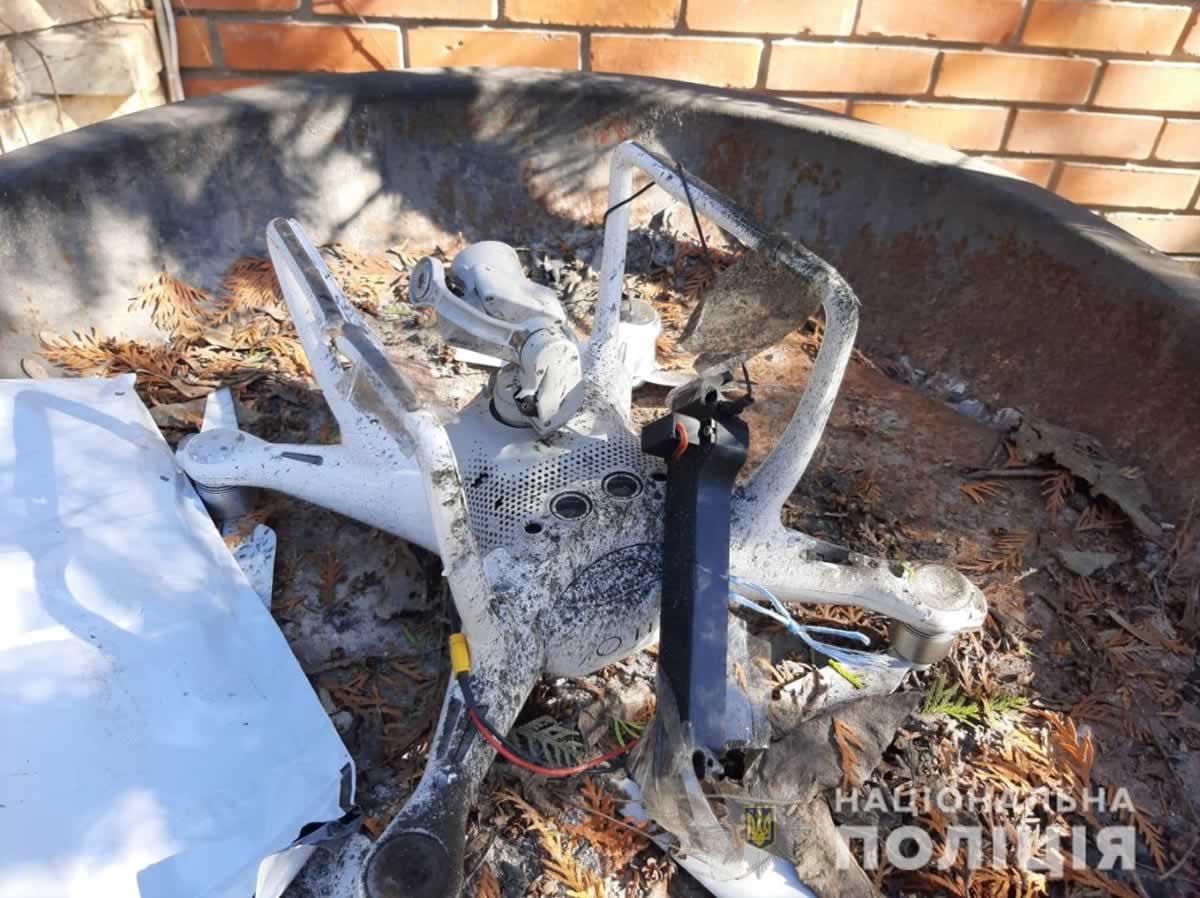 В Одессе нашли остатки БПЛА и гранаты